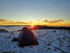 DSC02748 Izlaz sunca na Vaganskom vrhu